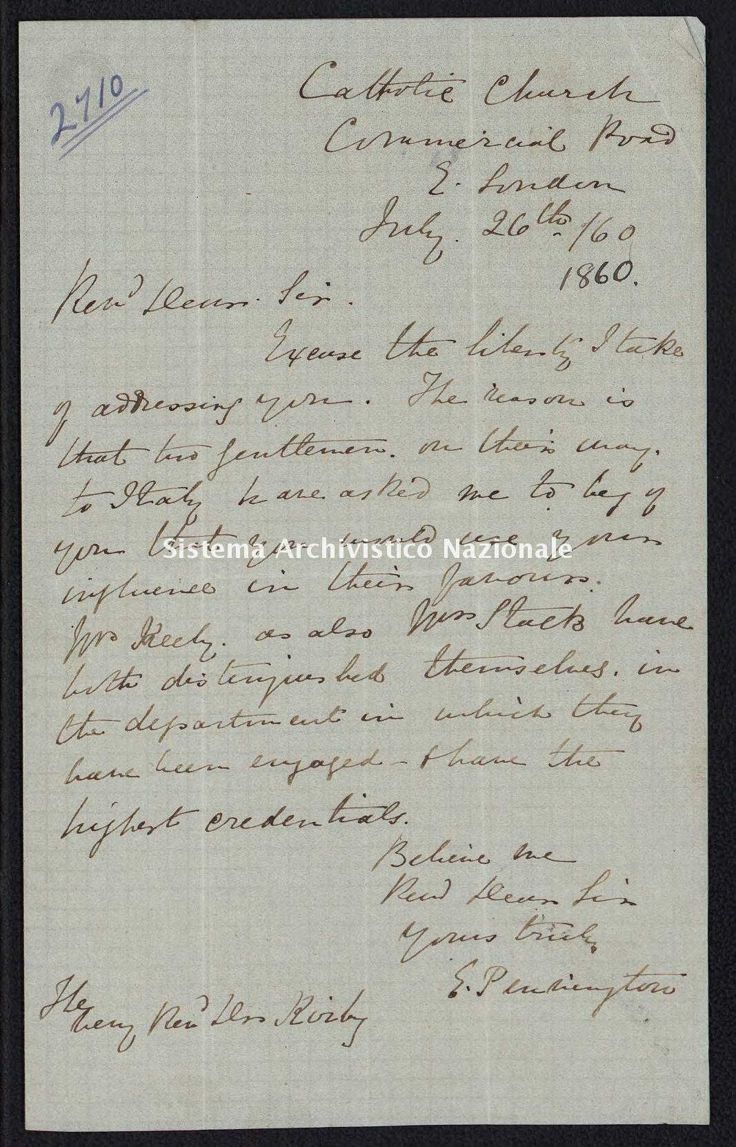 Pontificio Collegio Irlandese - Kirby_1860_2710