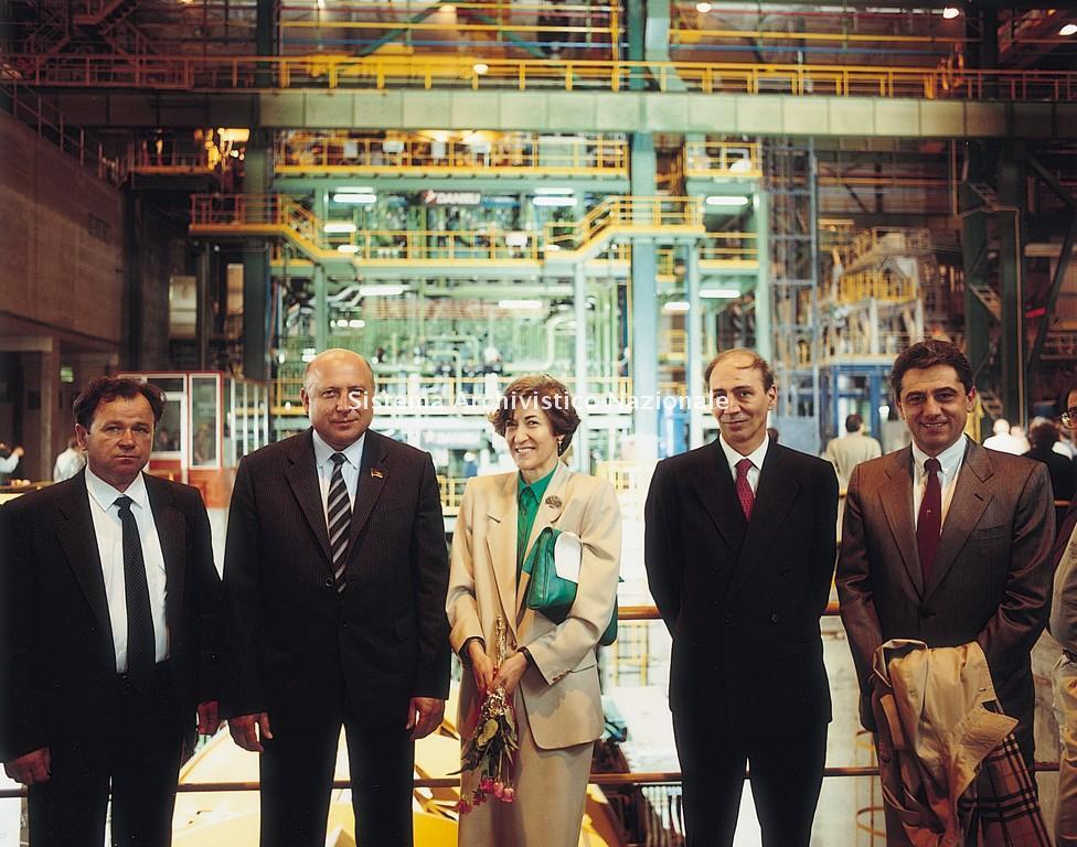 Danieli & C. Officine Meccaniche spa, inaugurazione dell'impianto per la produzione di aste di perforazione, 1989
