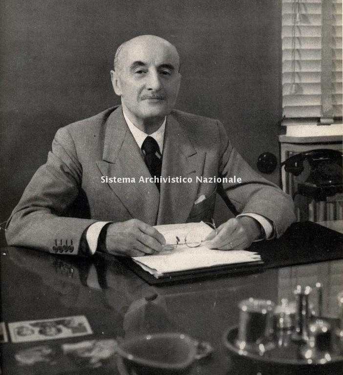 L'imprenditore Umberto Brustio, 1950 ca.
