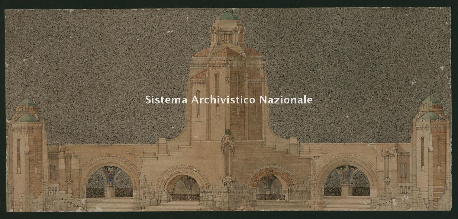Giulio Ulisse Arata, Cimitero monumentale di Piacenza, 1916-1918