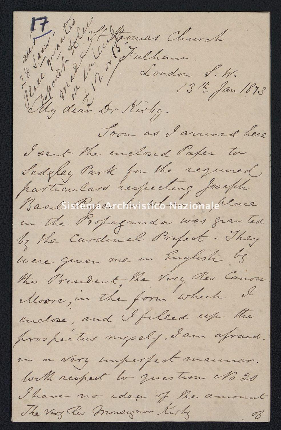 Pontificio Collegio Irlandese - Kirby_1873_17