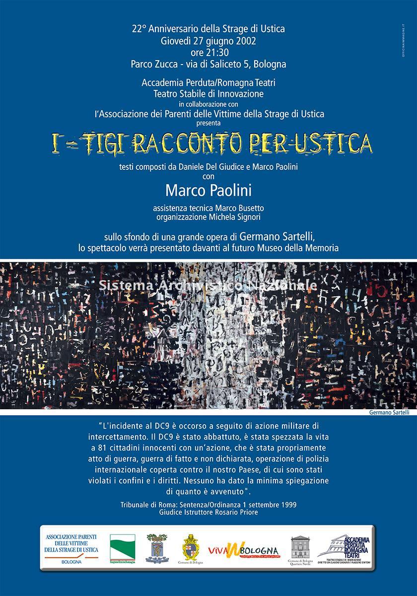 Strage di Ustica, manifesto commemorativo, Bologna 27 giugno 2002