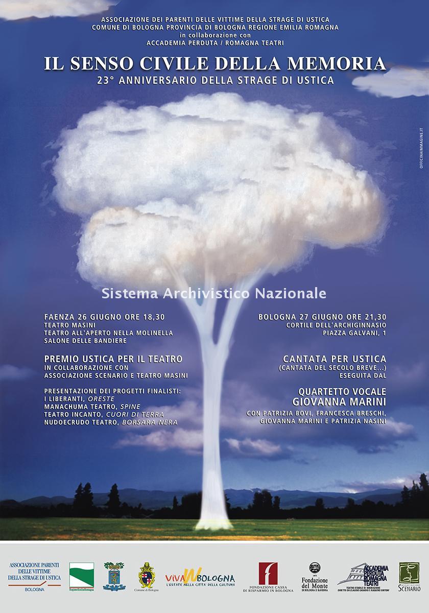 Strage di Ustica, manifesto commemorativo, Faenza e Bologna 26- 27 giugno 2003
