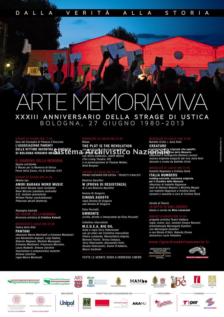 Strage di Ustica, manifesto commemorativo, Bologna 2013