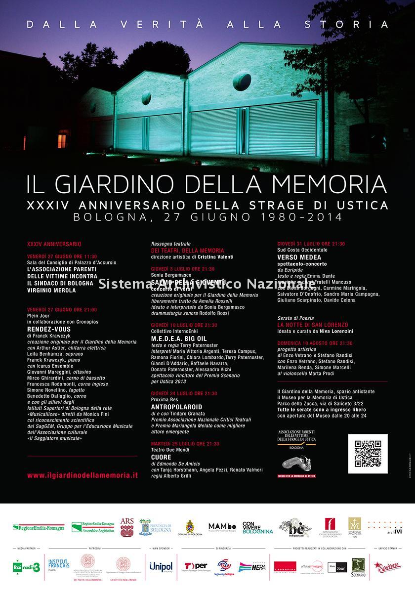 Strage di Ustica, manifesto commemorativo, Bologna 2014