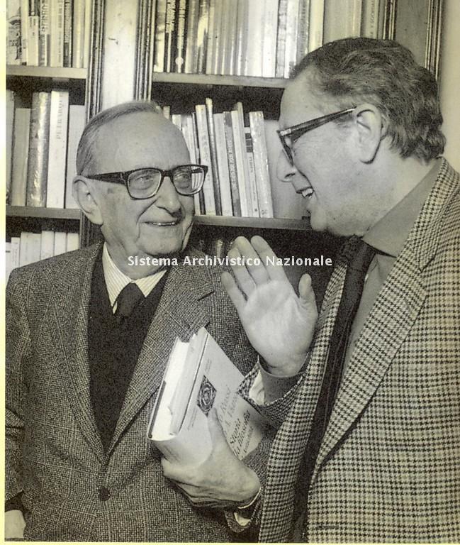 Vito Laterza con Eugenio Garin, 1998-2000