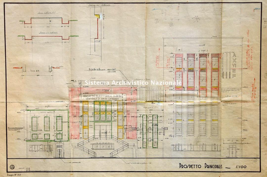 Antonio Franzil, Centrale elettrica di Santa Caterina, San Giovanni Suergiu 1935-1939
