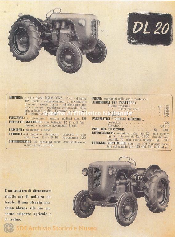 SAME, Lamborghini DL 20, depliant, 1957