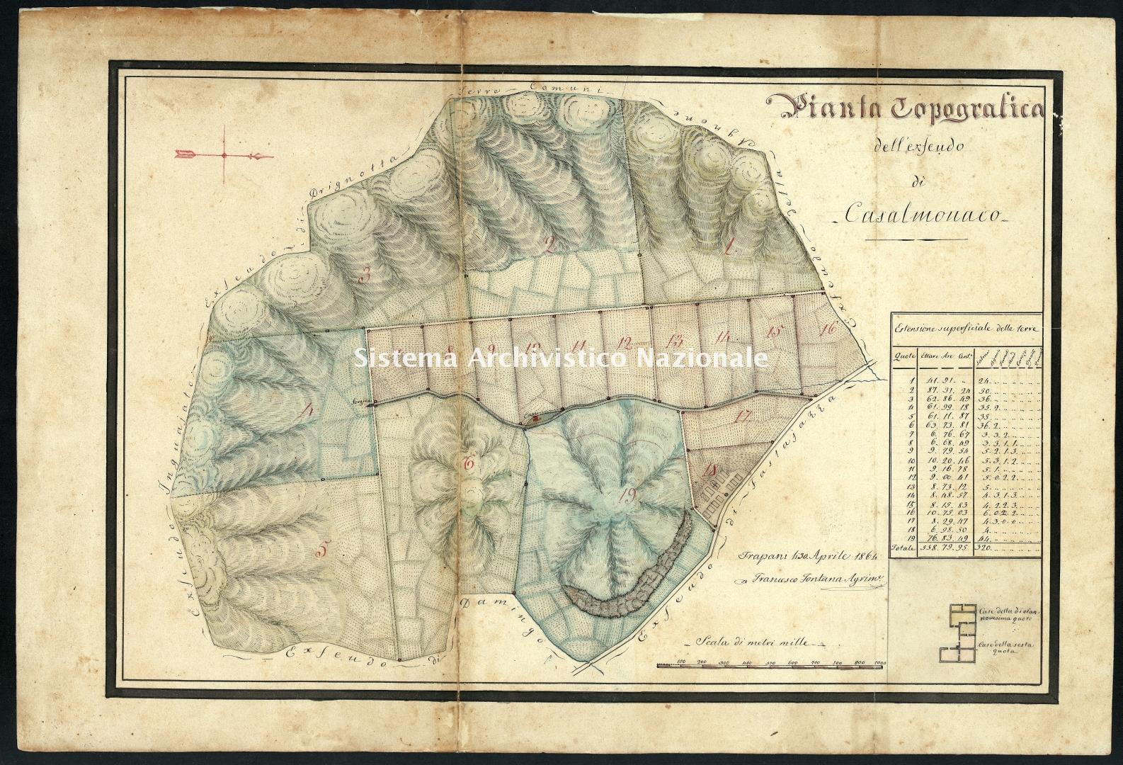Archivio di Stato di Trapani, Commissione per l'Enfiteusi dei Beni Rurali Ecclesiastici, Vol. 10 Fasc. 70, carta 29.