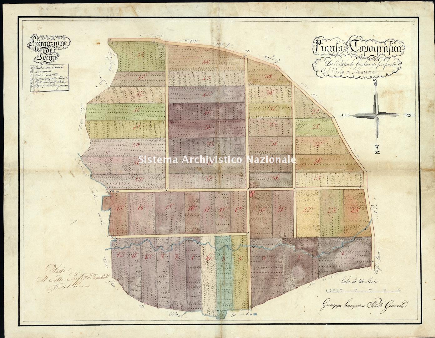 Archivio di Stato di Trapani, Commissione per l'Enfiteusi dei Beni Rurali Ecclesiastici, Vol. 11 Fasc. 73, carta 32.