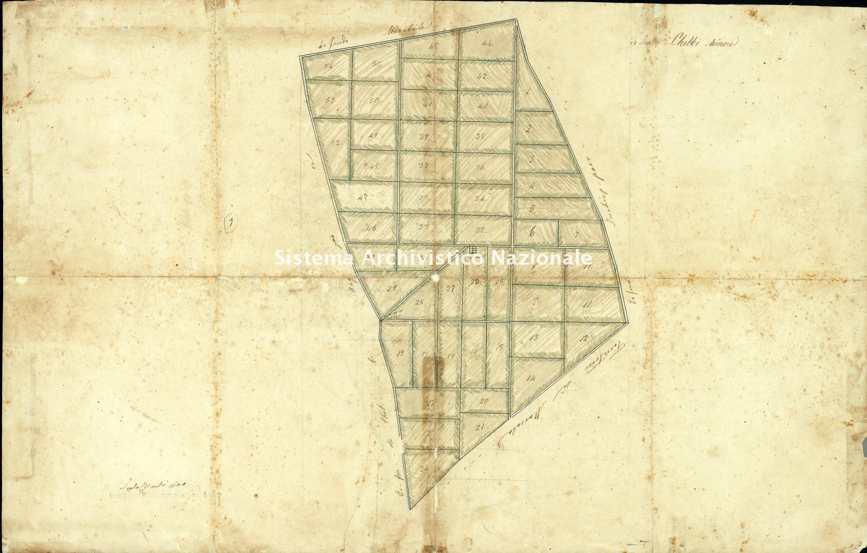 Archivio di Stato di Trapani, Commissione per l'Enfiteusi dei Beni Rurali Ecclesiastici, Vol. 12 Fasc. 74, carta 33.