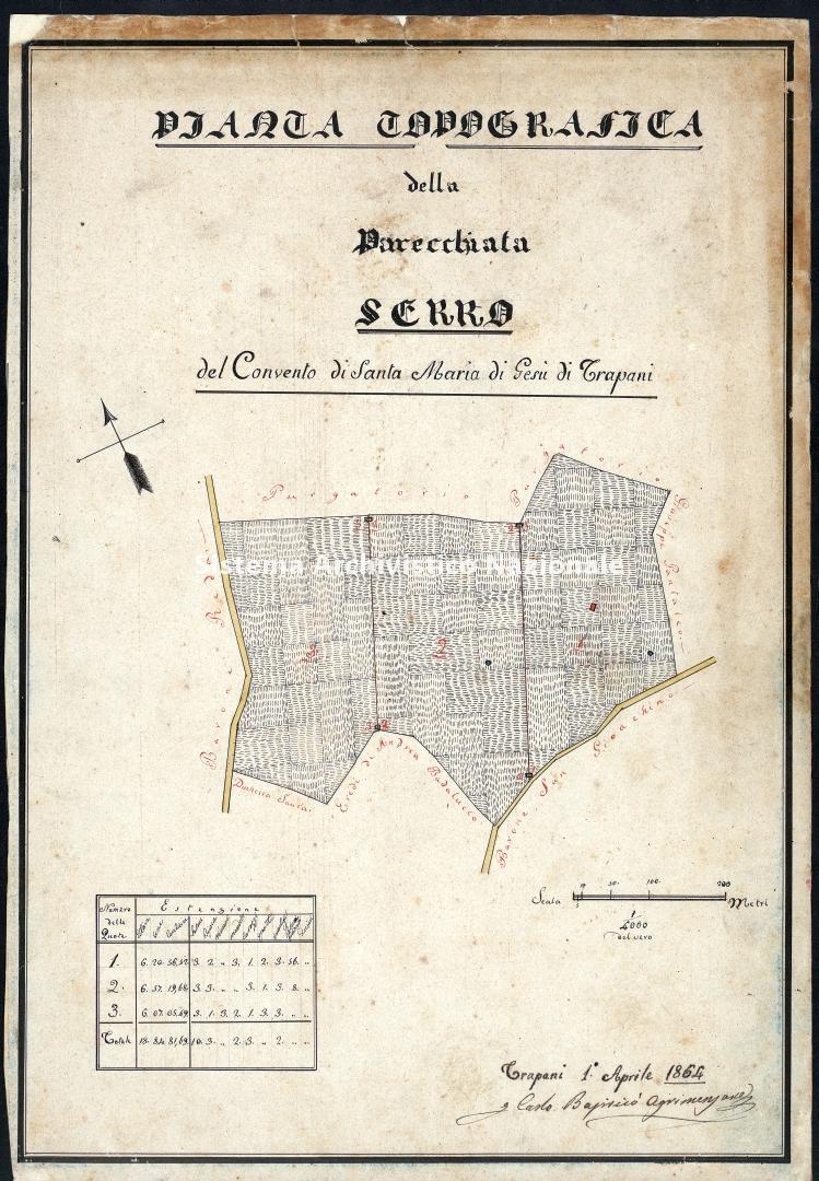 Archivio di Stato di Trapani, Commissione per l'Enfiteusi dei Beni Rurali Ecclesiastici, Vol. 12 Fasc. 76, carta 34.