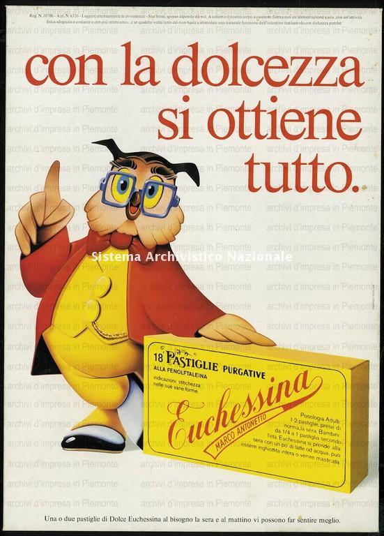 Antonetto Farmaceutici, lassativo Euchessina, 1970