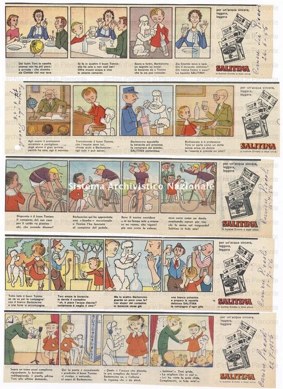 Antonetto Farmaceutici, pubblicità dell'integratore Salitina, 1956