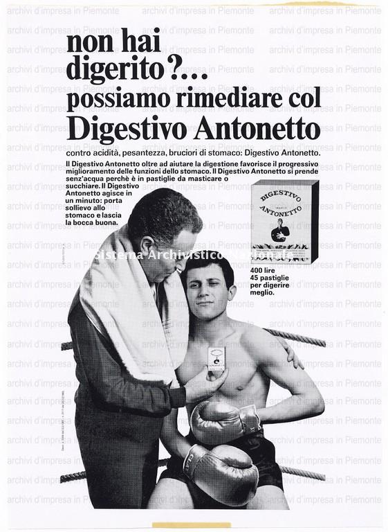 Antonetto Farmaceutici, digestivo Antonetto, 1967