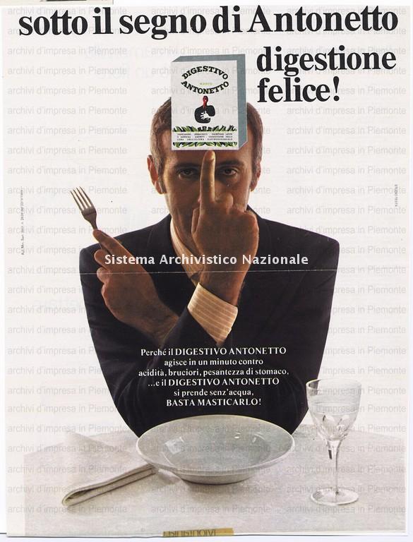 Antonetto Farmaceutici, digestivo Antonetto, 1968
