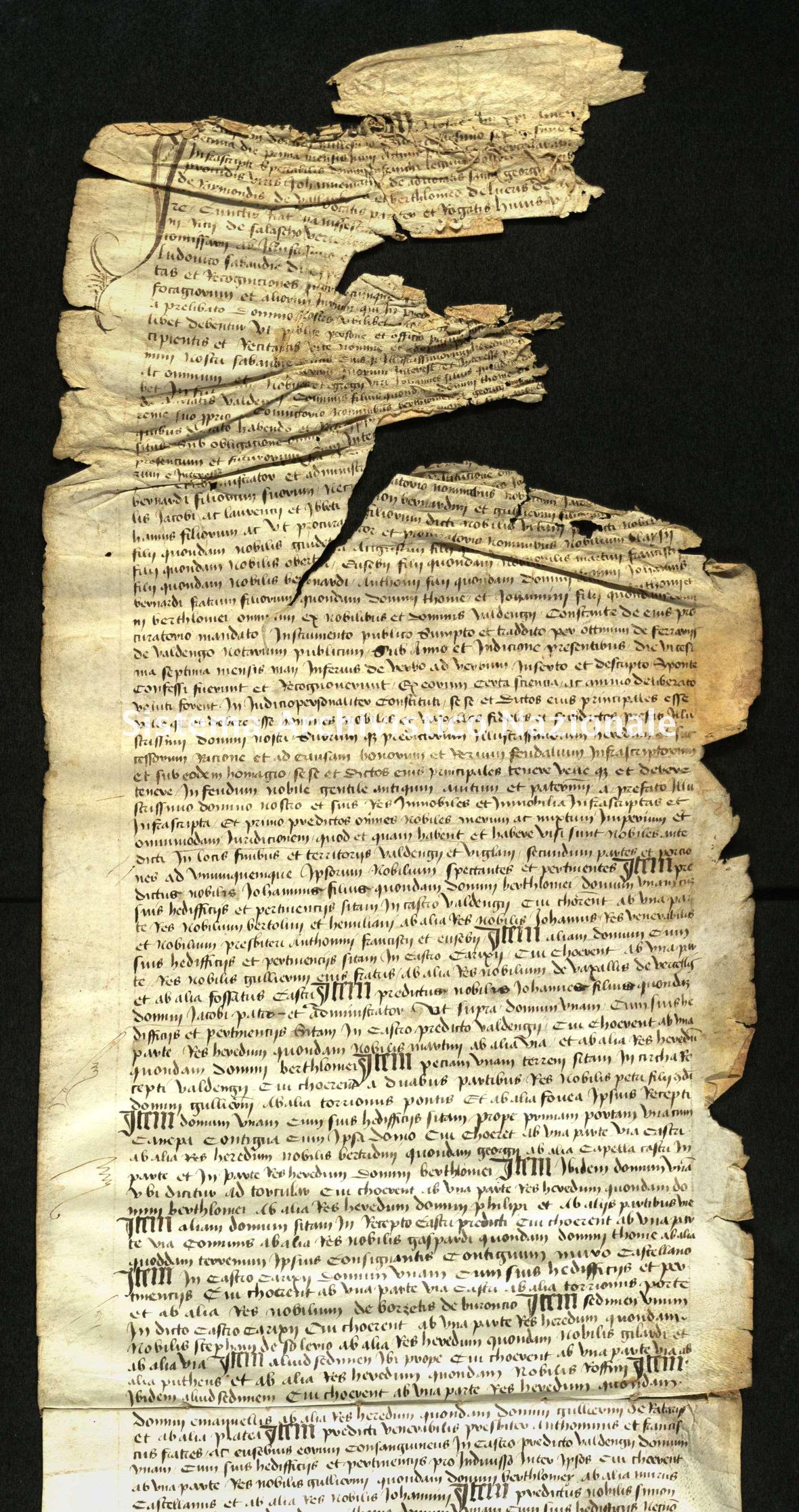 Archivio di Stato di Biella, Avogadro di Valdengo, Pergamene I, Vercelli 1 giugno 1462