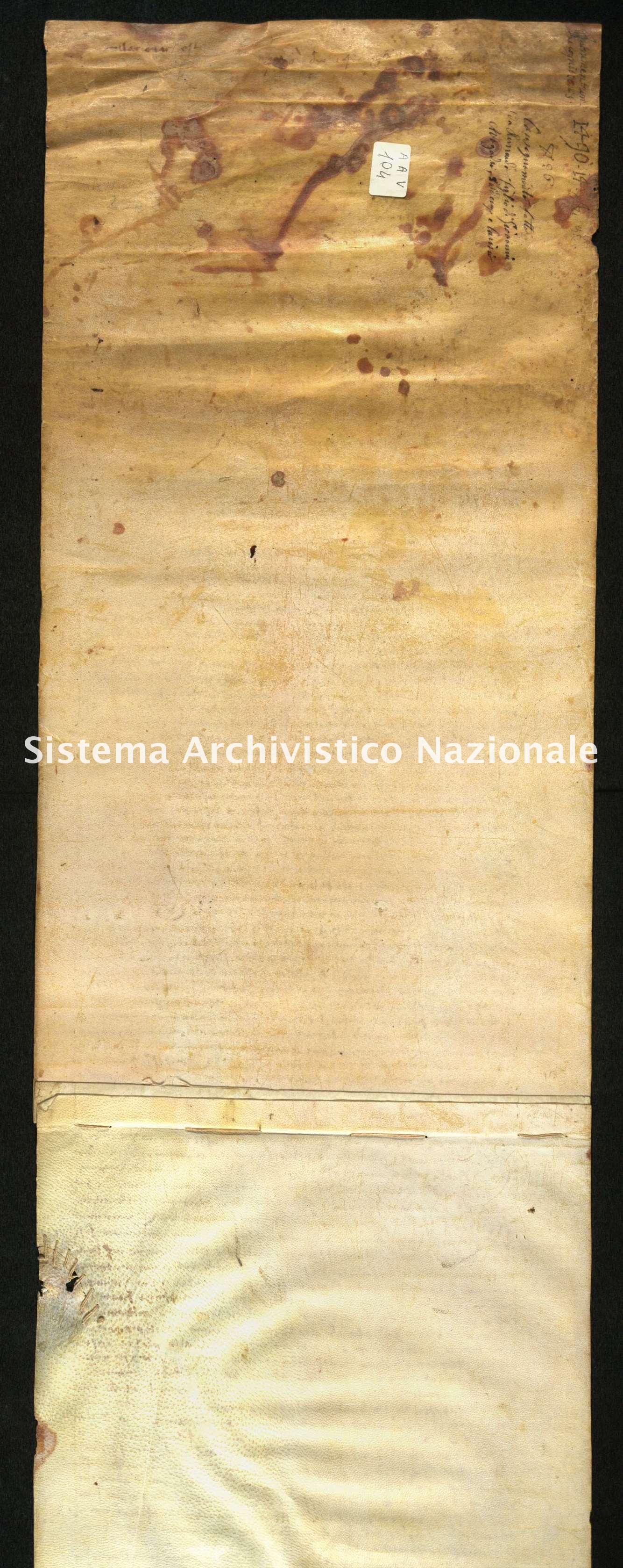 Archivio di Stato di Biella, Avogadro di Valdengo, Pergamene I, Sant'Agata 14 agosto 1490