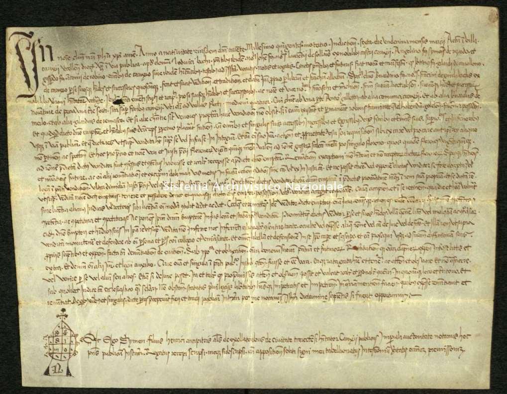 Archivio di Stato di Biella, Avogadro di Valdengo, Pergamene I, Biella 11 marzo 1503