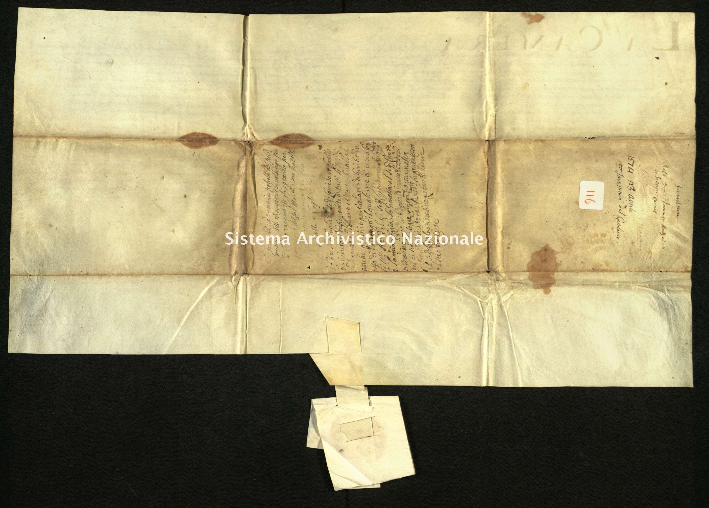 Archivio di Stato di Biella, Avogadro di Valdengo, Pergamene I, Torino 23 aprile 1574