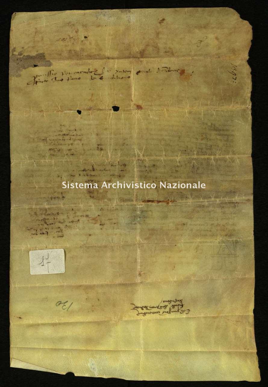 Archivio di Stato di Biella, Morra di Sandigliano, Pergamene, Cerridono 7 luglio 1397