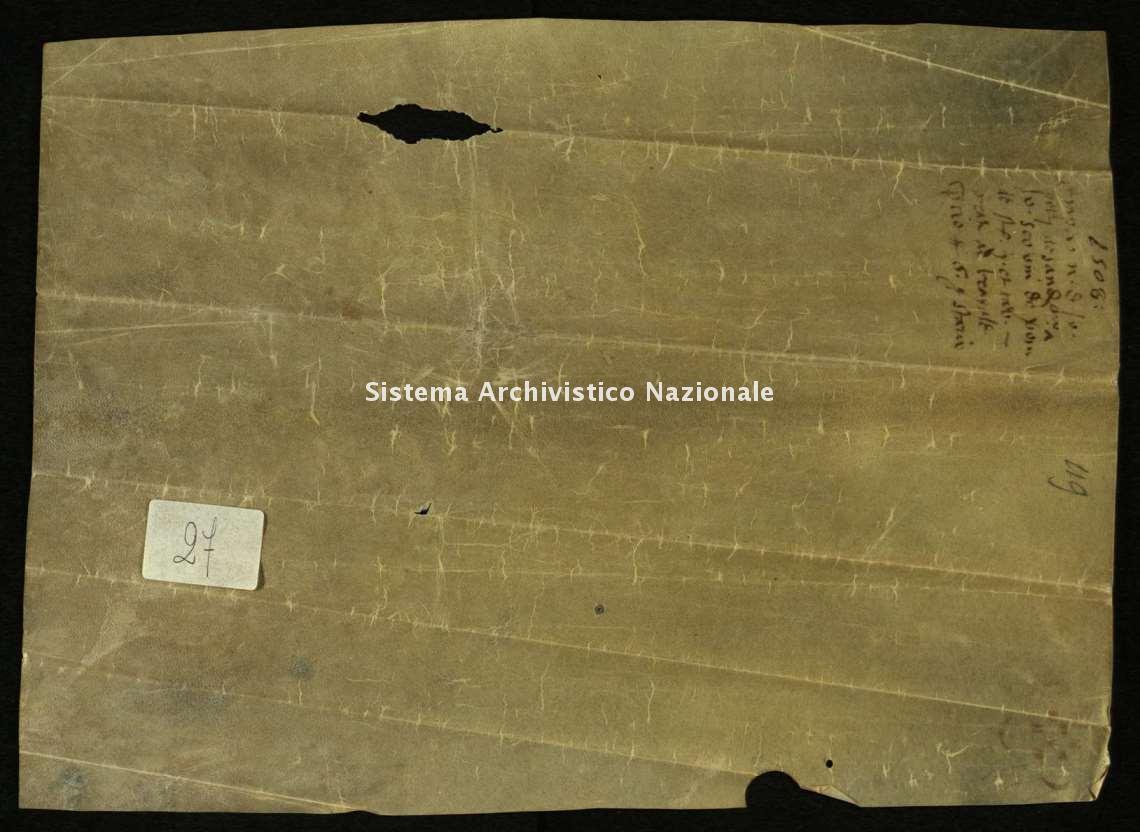 Archivio di Stato di Biella, Morra di Sandigliano, Pergamene, Sandigliano 7 agosto 1508