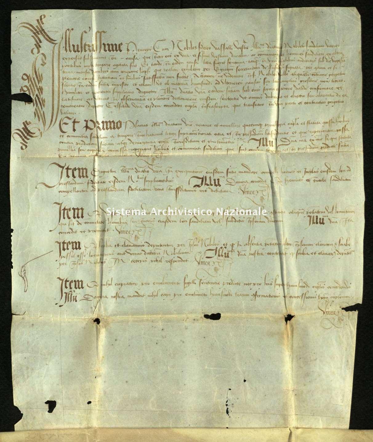 Archivio di Stato di Biella, Morra di Sandigliano, Pergamene, 1491