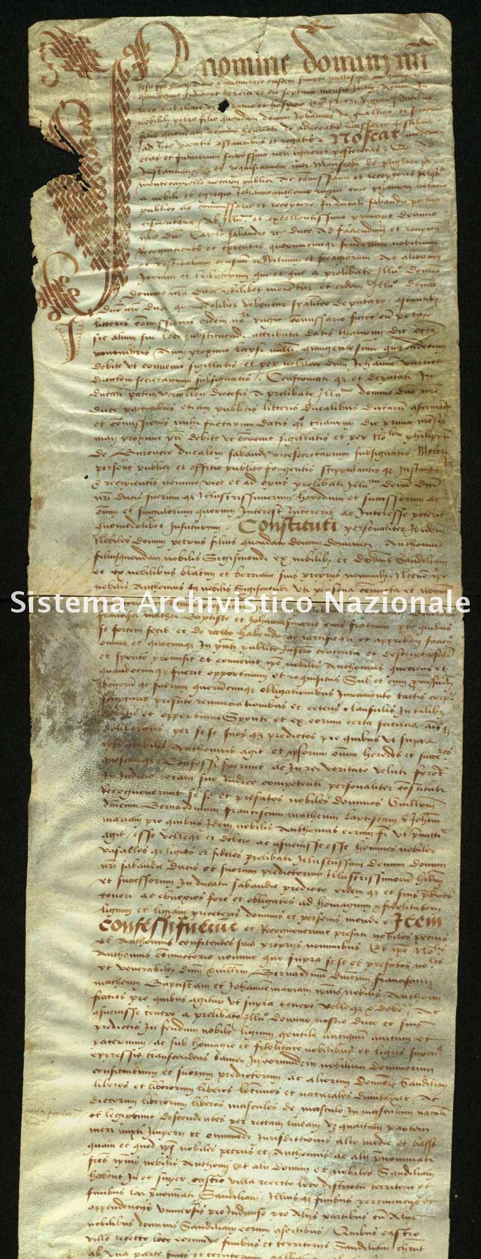 Archivio di Stato di Biella, Morra di Sandigliano, Pergamene, Cavaglià 7 luglio 1515
