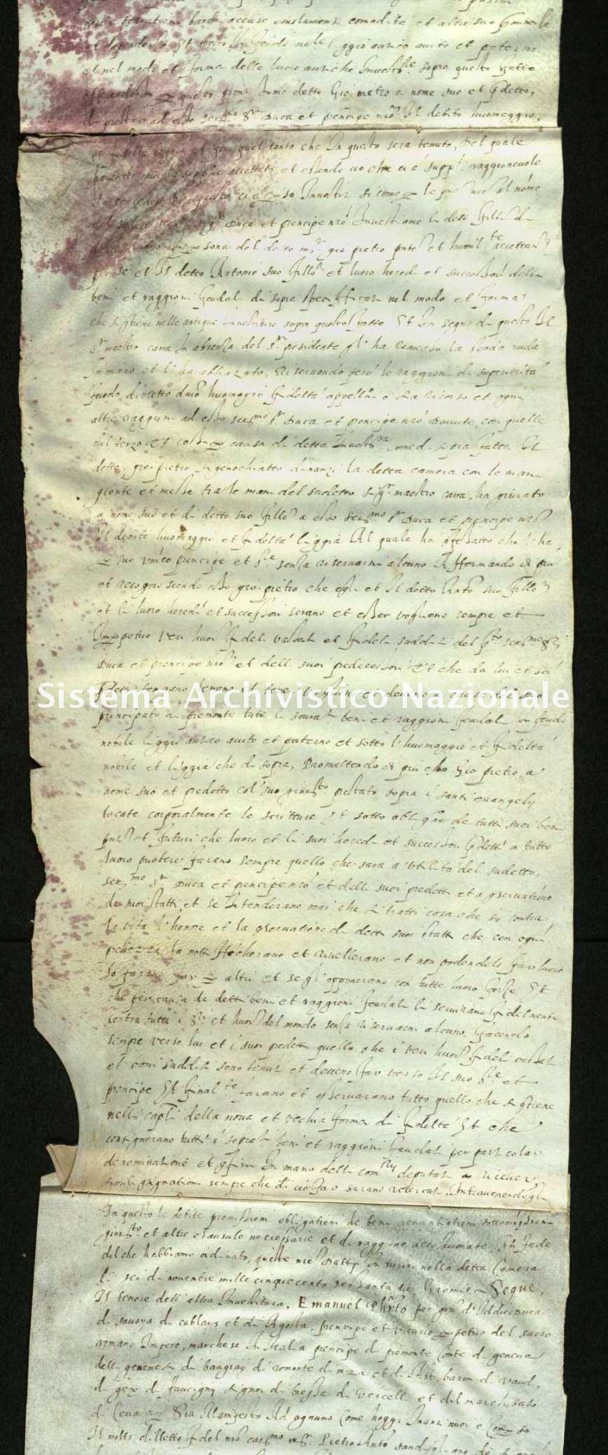Archivio di Stato di Biella, Morra di Sandigliano, Pergamene, Moncrivello 11 giugno 1564