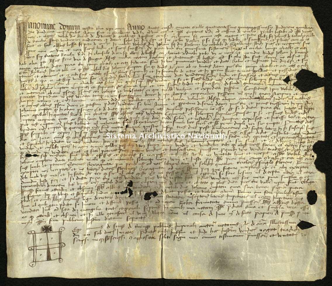 Archivio di Stato di Biella, Avogadro di Valdengo, Pergamene, Pergamene I, Valdengo, 12 aprile 1452