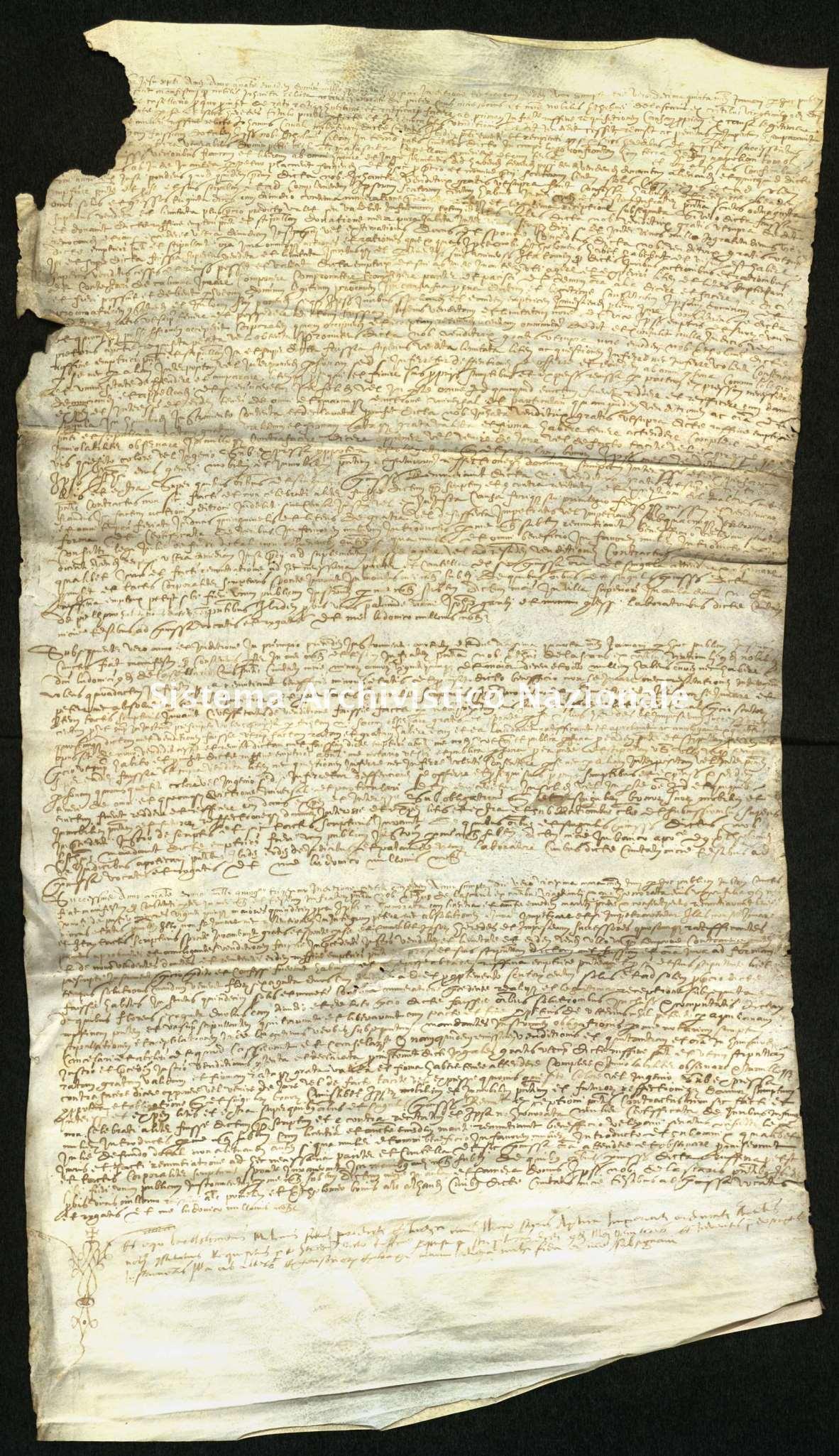 Archivio di Stato di Biella, Richelmy di Bovile, Pergamene, Nizza 1530