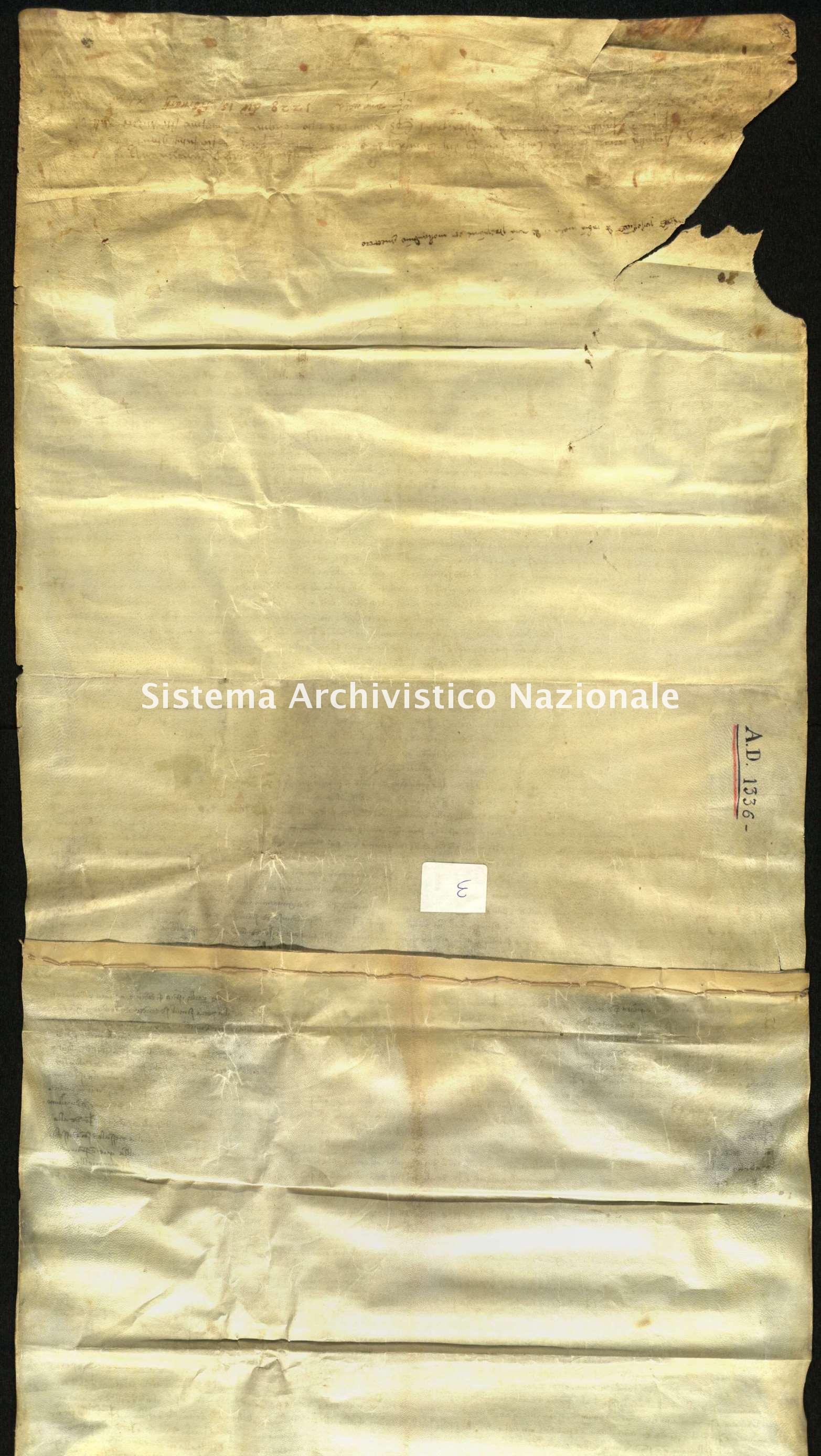 Archivio di Stato di Biella, Famiglia Gromo di Ternengo, 10 aprile 1336
