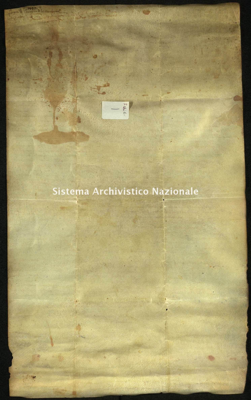 Archivio di Stato di Biella, Frichignono di Castellengo, Nizza 05 maggio 1497