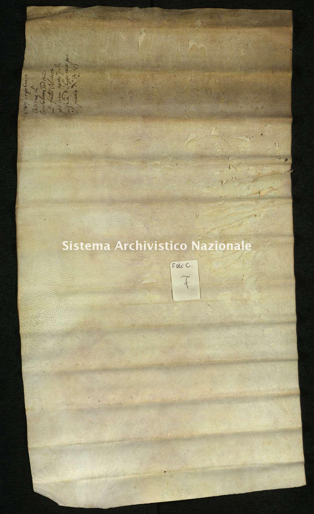 Archivio di Stato di Biella, Frichignono di Castellengo, Nizza 10 febbraio 1589