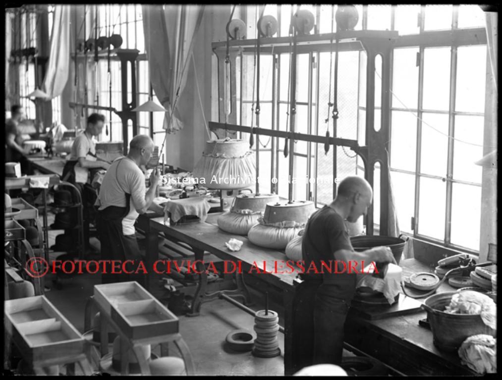 Borsalino, reparto formatura, Alessandria anni '30