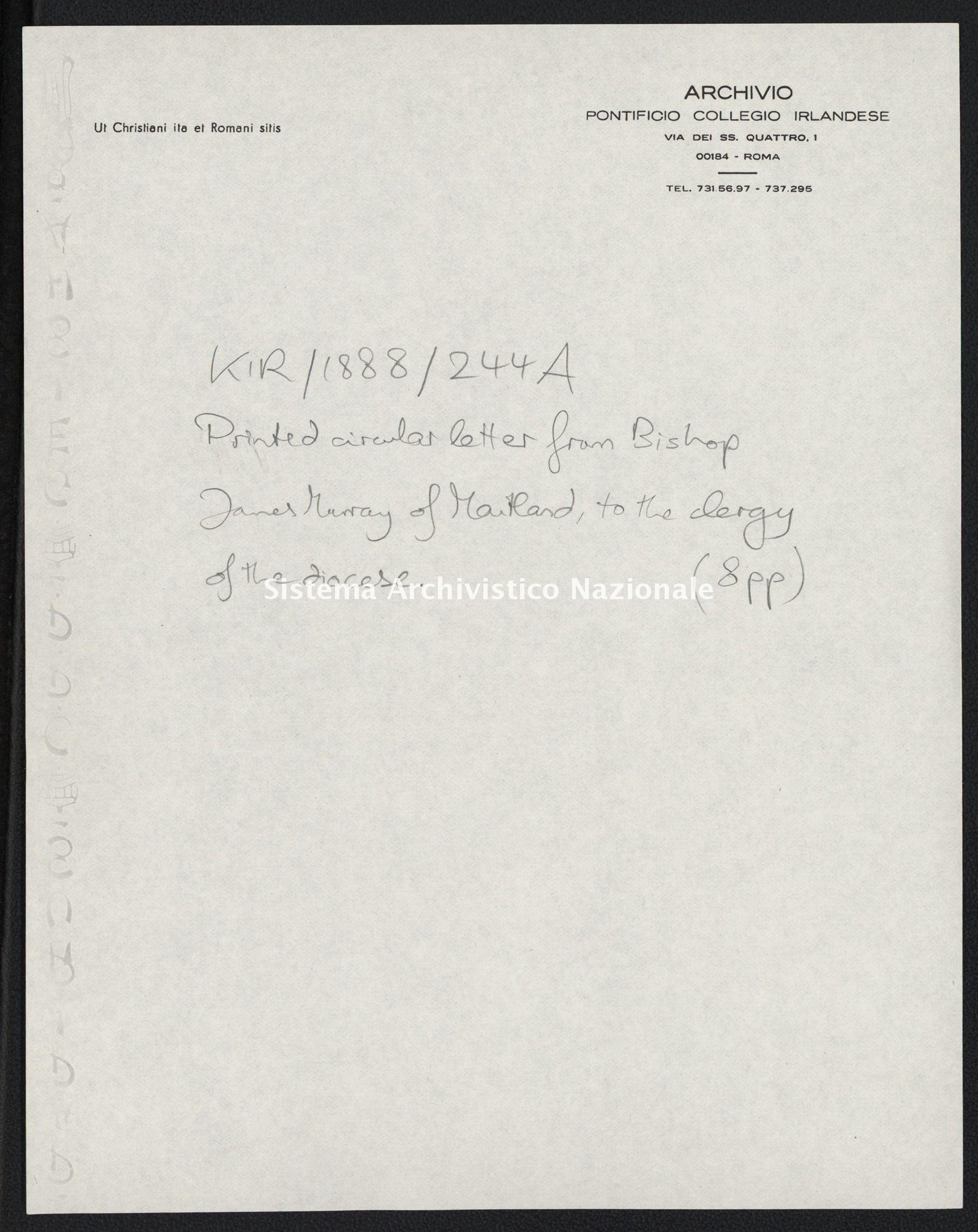 Pontificio Collegio Irlandese - Kirby_1888_244_a