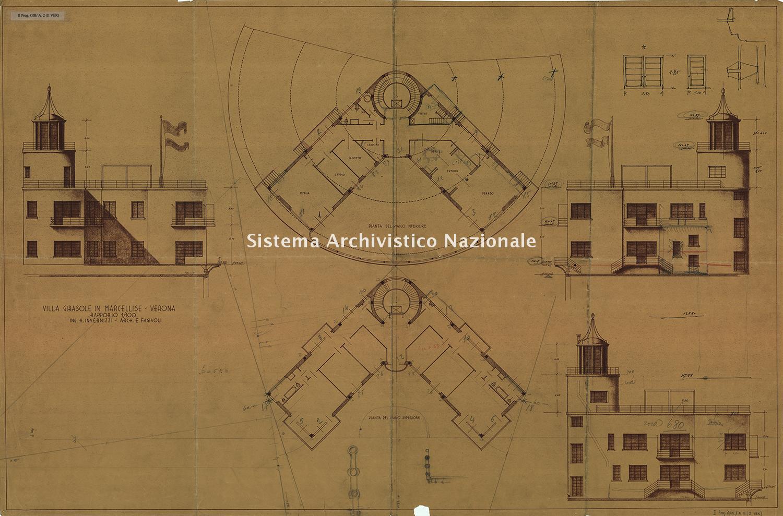 Angelo Invernizzi, Villa Girasole a Marcellise, 1929-1935