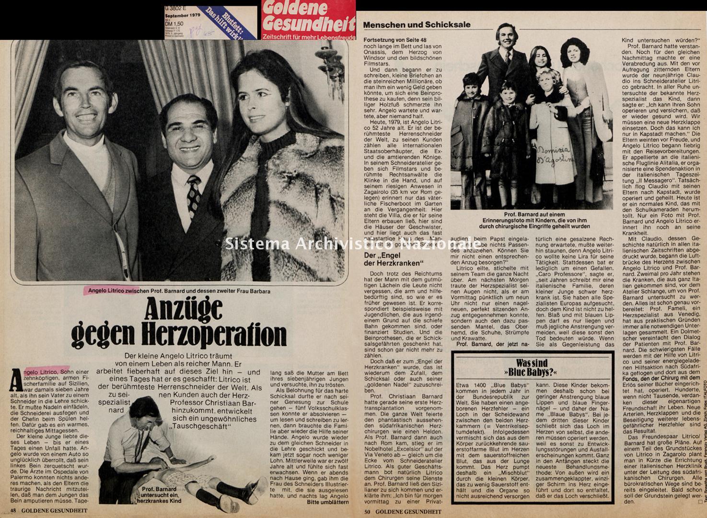Anzüge gegen Herzoperation, 1979