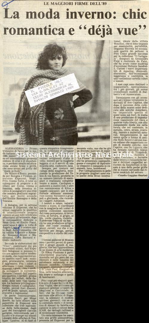 Le maggiori firme dell'89, 1989
