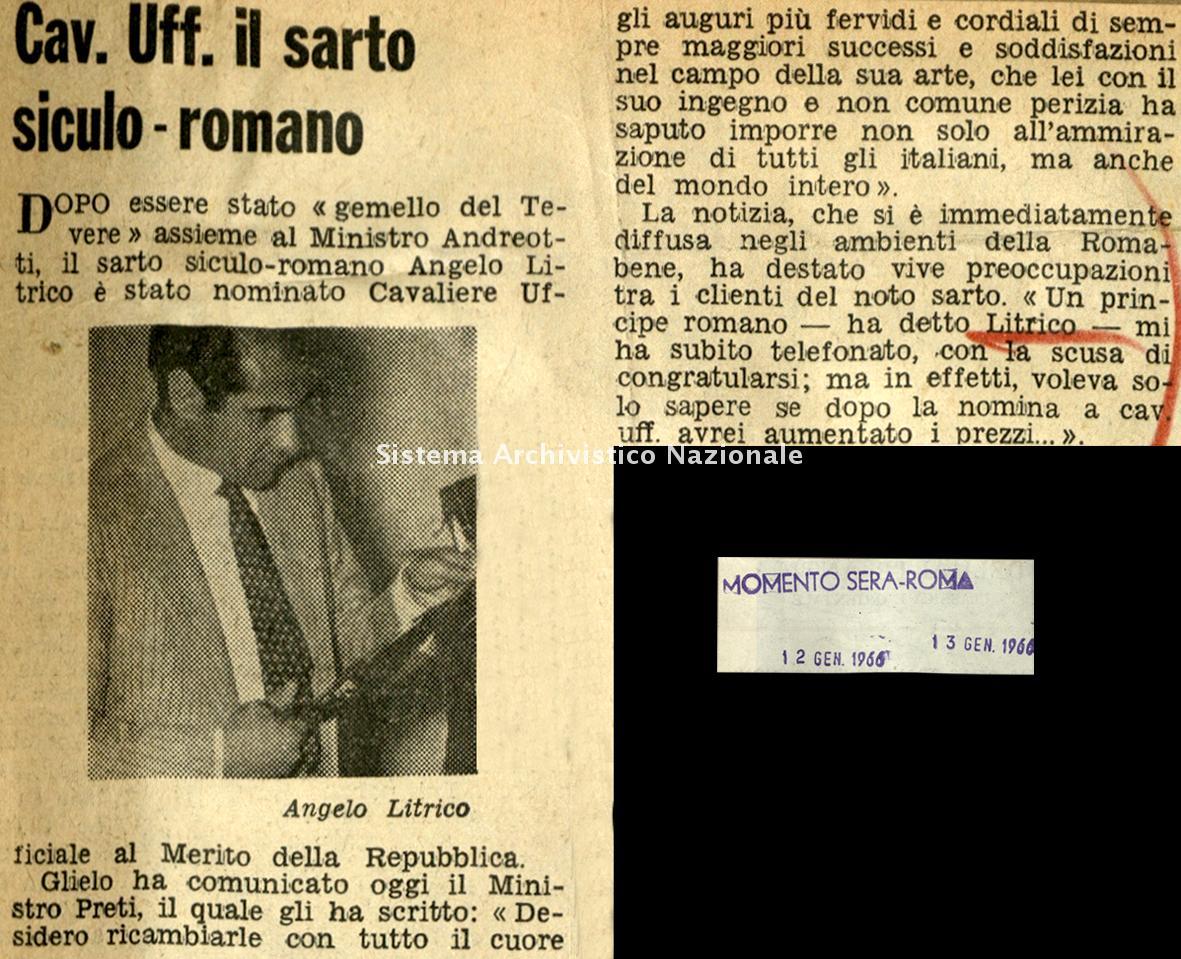 Cav. Uff. il sarto siculo-romano, 1966