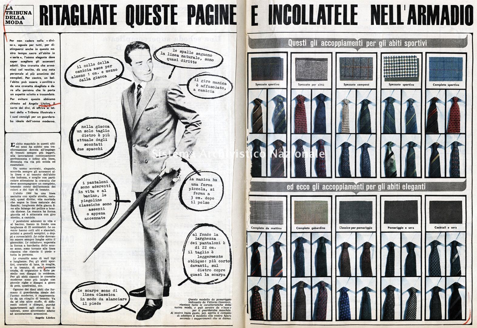 La scelta degli accessori per l'uomo elegante, 1966