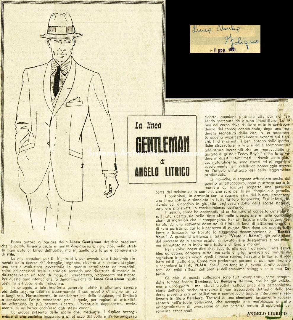 La linea Gentleman, 1961