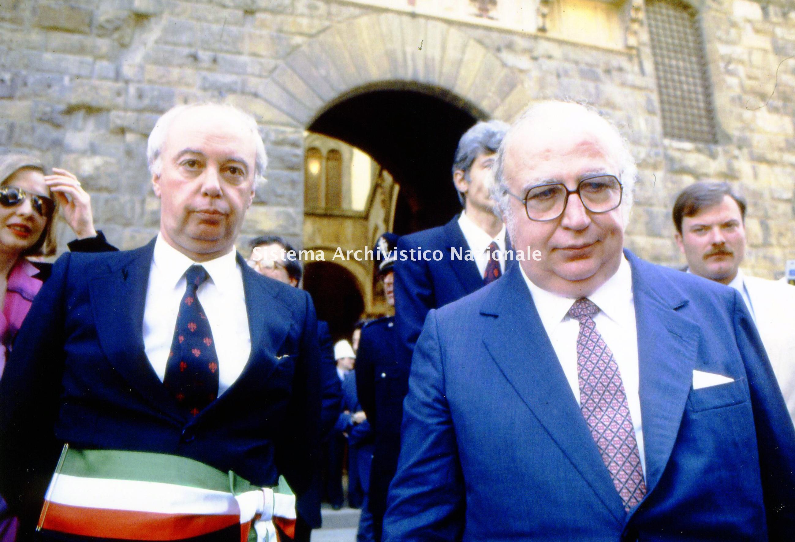 Lando Conti, maggio 1984 insieme a Giovanni Spadolini