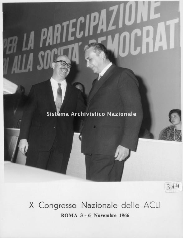 Aldo Moro e Livio Labor, Roma 1966