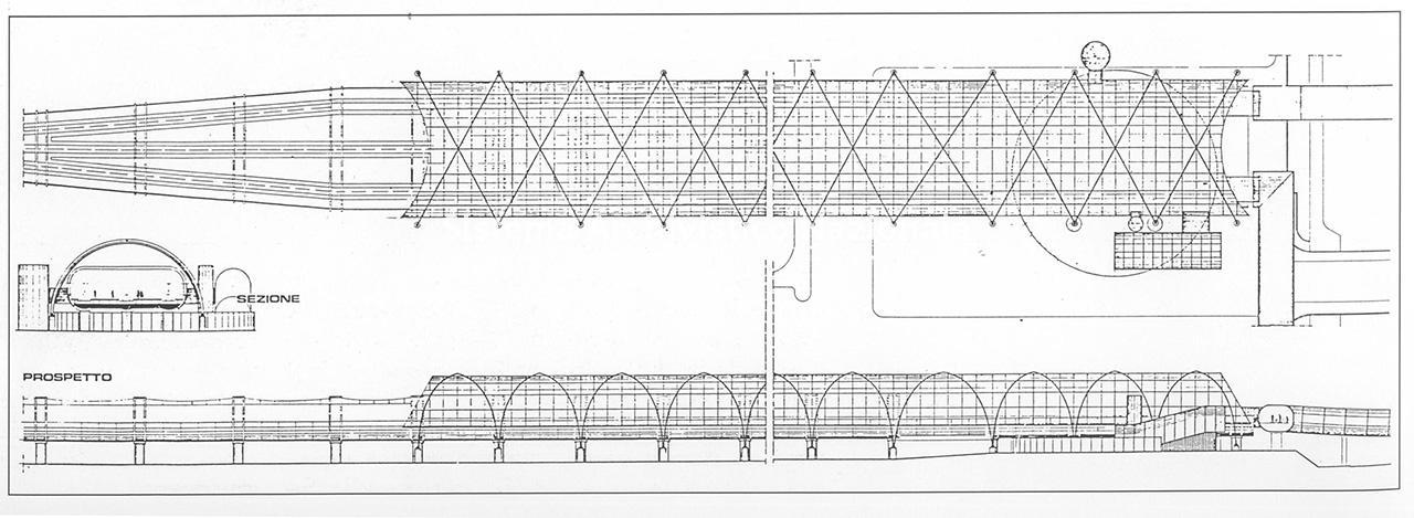 """Paolo Cercato, Stazione della ferrovia dell'aeroporto """"Leonardo Da Vinci"""", Fiumicino 1982"""