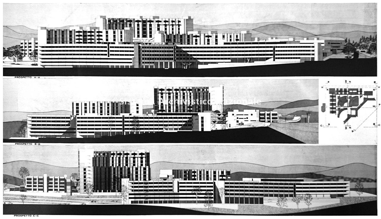 Sergio Lenci, Nuova sede ospedale provinciale San Carlo di Potenza, 1967-1999