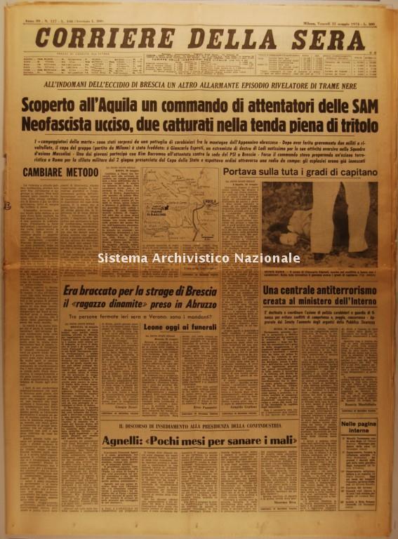 Strage di piazza della Loggia, Corriere della Sera, 31 maggio 1974
