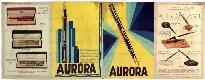 Listino prezzi delle penne Aurora, suddivise in mo...