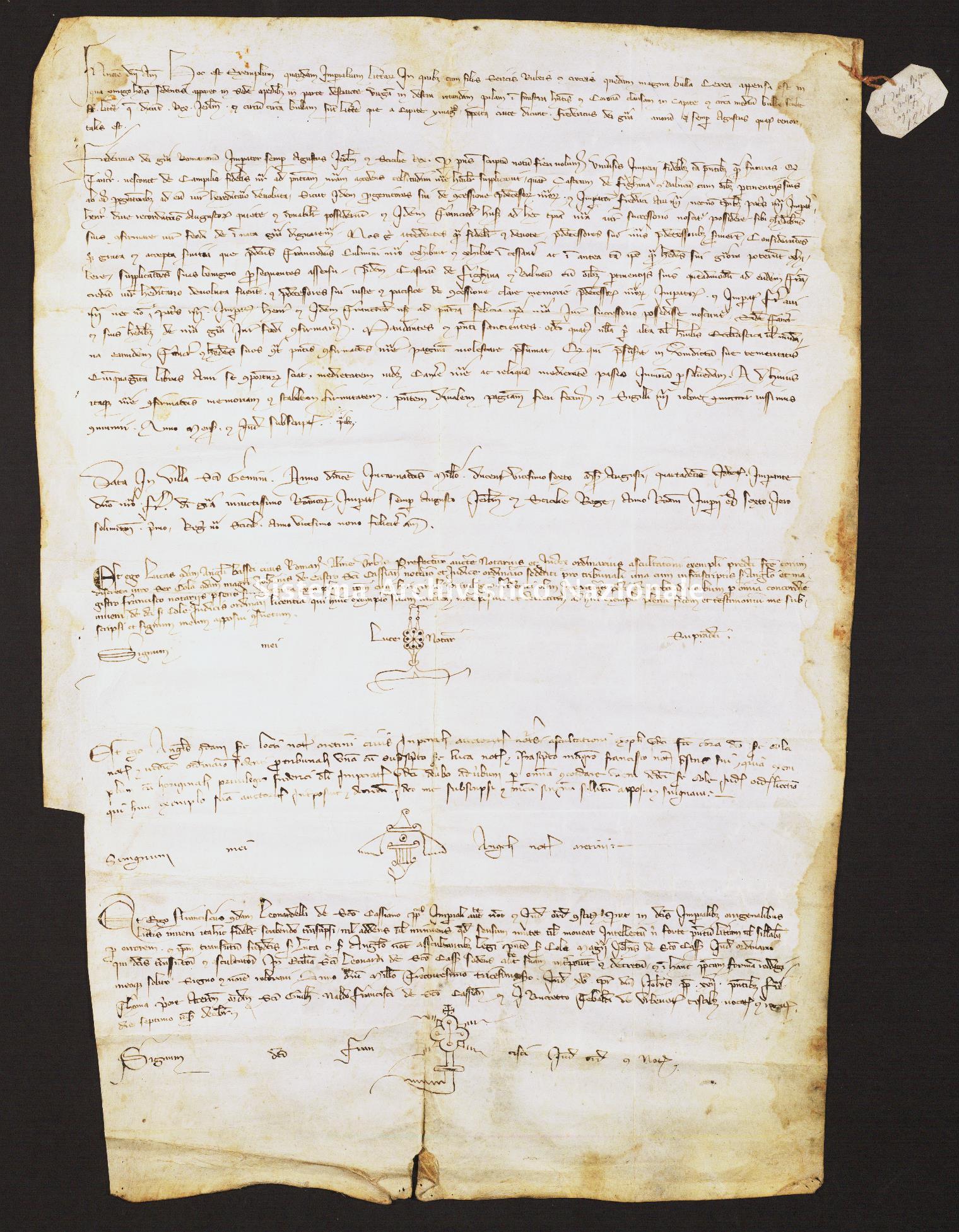 017. Archivio di Stato di SIENA, Diplomatico, Diplomatico Riformagioni Balzana, Pergamena 017 - 1226 agosto, casella 44