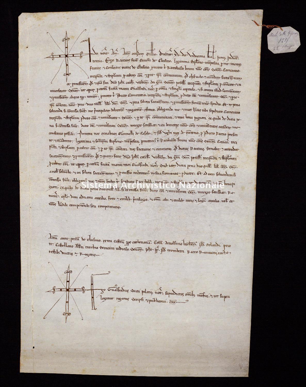 205. Archivio di Stato di SIENA, Diplomatico, Diplomatico Riformagioni, Pergamena 0206 - 1215 maggio 22, casella 34